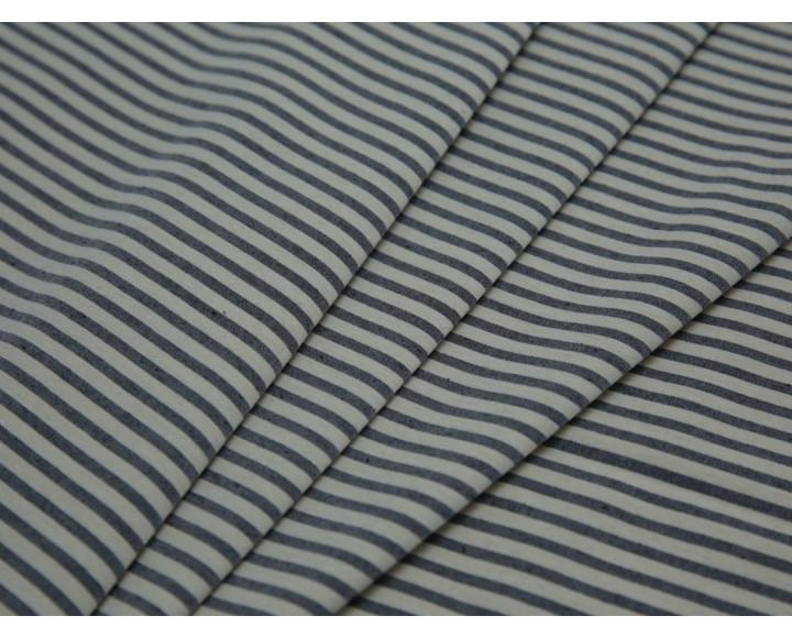 Костюмная ткань в серо-белую полоску