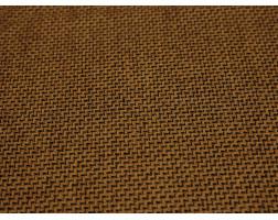 Костюмная ткань оранжевая с черным мелким принтом