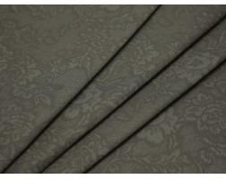 Костюмная ткань хлопковая цвета хаки цветочный принт