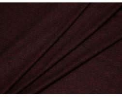 Костюмная ткань черно-бордовый принт