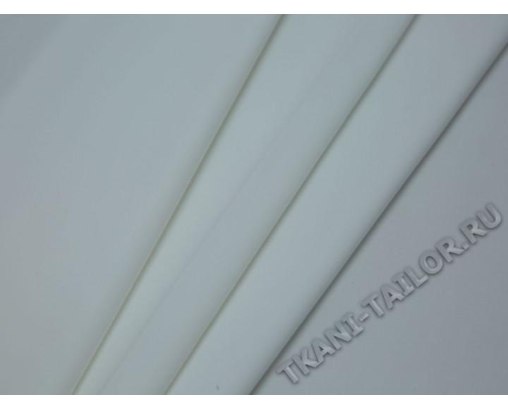 Костюмная ткань стрейч молочно-белая