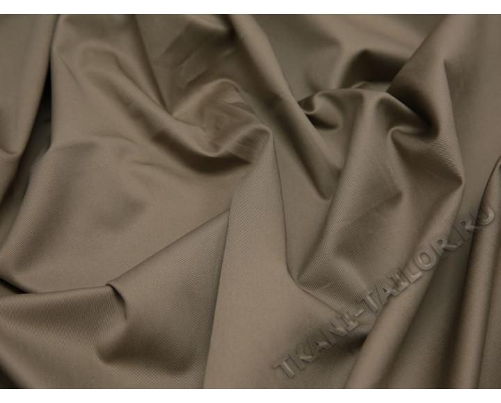 Костюмная ткань стрейч песочно-коричневая