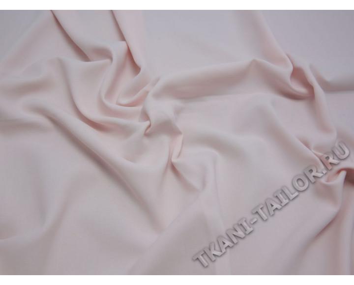 Костюмная ткань светло-розовая тонкая