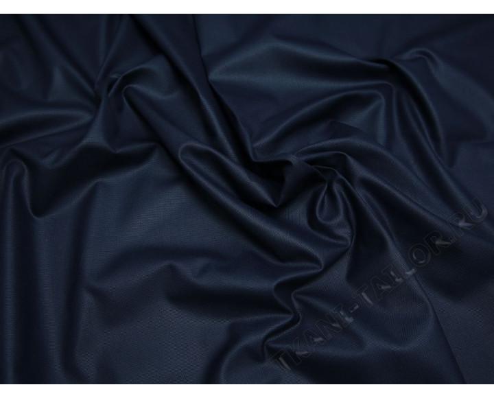 Костюмная ткань тонкая темно-синяя с отливом