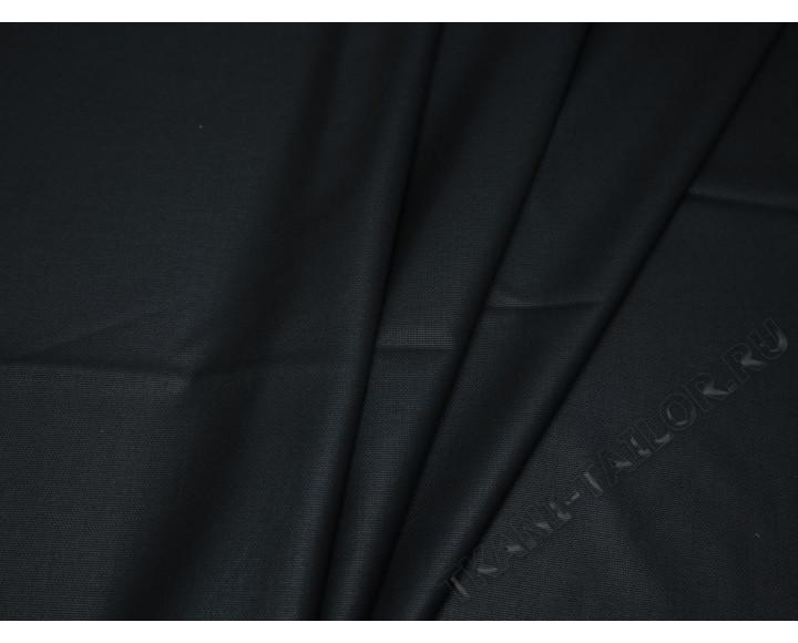 Костюмная ткань тонкая черная с отливом