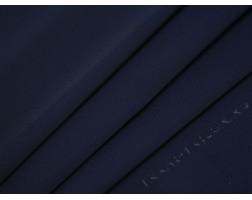 Костюмная ткань в рубчик темно-синяя
