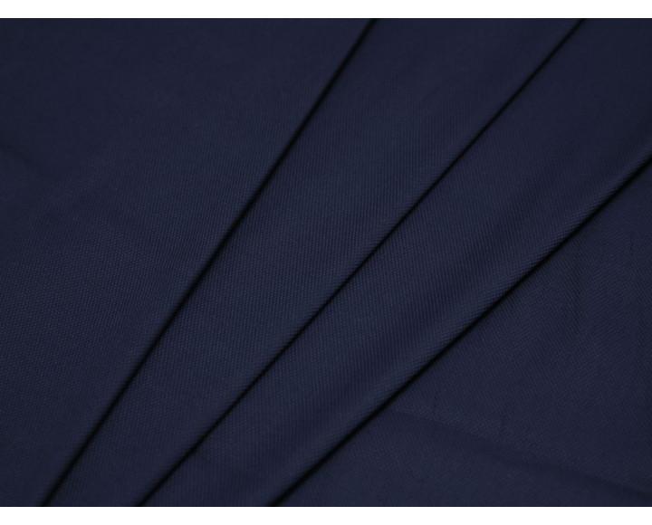 Костюмная ткань тонкая синего цвета