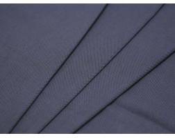 Костюмная ткань хлопковая серо-синяя