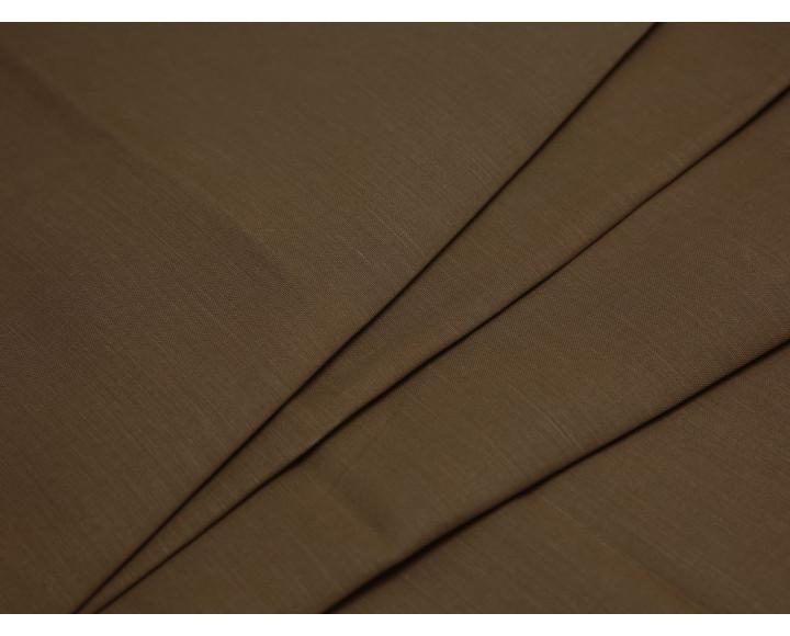 Костюмная ткань хлопковая коричневая