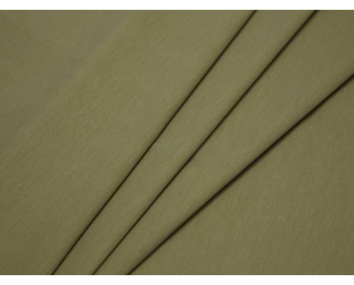 Костюмная ткань тонкая оливкового цвета