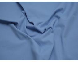 Костюмная ткань в рубчик голубая