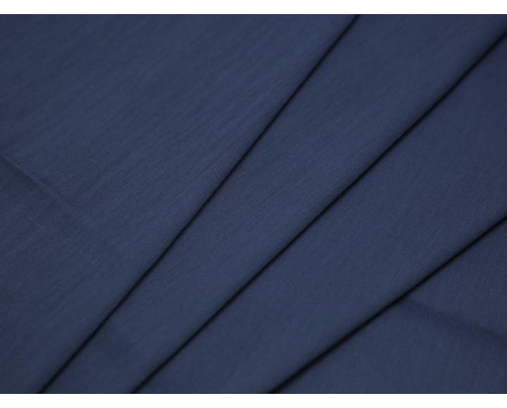 Костюмная ткань тонкая синяя