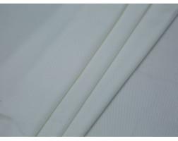 Костюмная ткань в рубчик белая