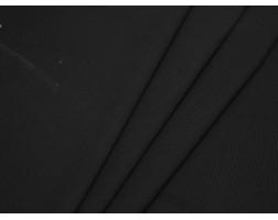Костюмная ткань в рубчик черная