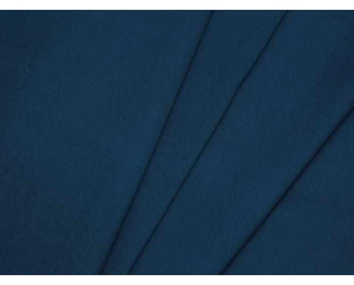 Костюмная ткань хлопковая синяя