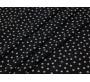 Плательная ткань черная в белый горошек