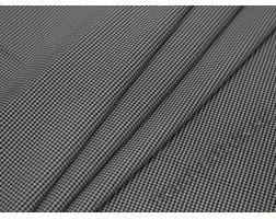 Плательная ткань хлопковая черно-белая гусиная лапка