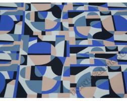 Плательная ткань с абстрактным принтом