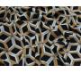 Плательная ткань черная геометрический принт