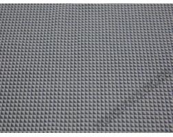 Плательная ткань светло-серая принт треугольники