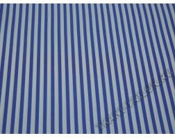 Плательная ткань хлопковая морской принт полоска