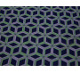 Плательная ткань темно-синяя принт ромбы