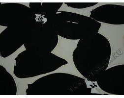 Плательная ткань черно-белый принт