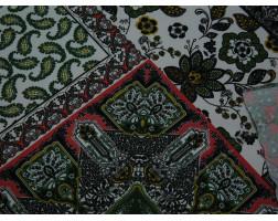 Плательная ткань узоры с огурцом мультиколор