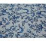 Плательная ткань белая голубые цветы