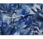 Плательная ткань хлопковая сине-белые цветы