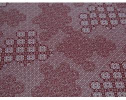 Плательная ткань хлопковая красно-белый орнамент