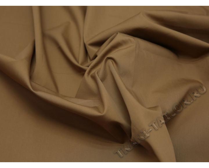 Плательная ткань хлопковая коричневая