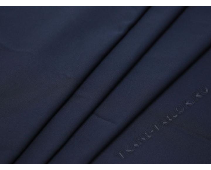 Плательная ткань темно-синяя однотонная