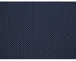 Рубашечная ткань хлопковая синяя белый геометрический принт