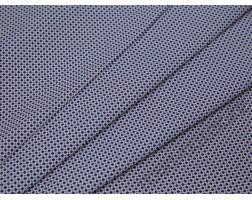 Рубашечная ткань хлопковая белая с синими ромбами и красными точками