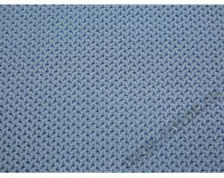 Рубашечная ткань хлопковая белая с голубыми фламинго