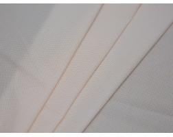 Рубашечная ткань хлопковая белая в оранжевый горох