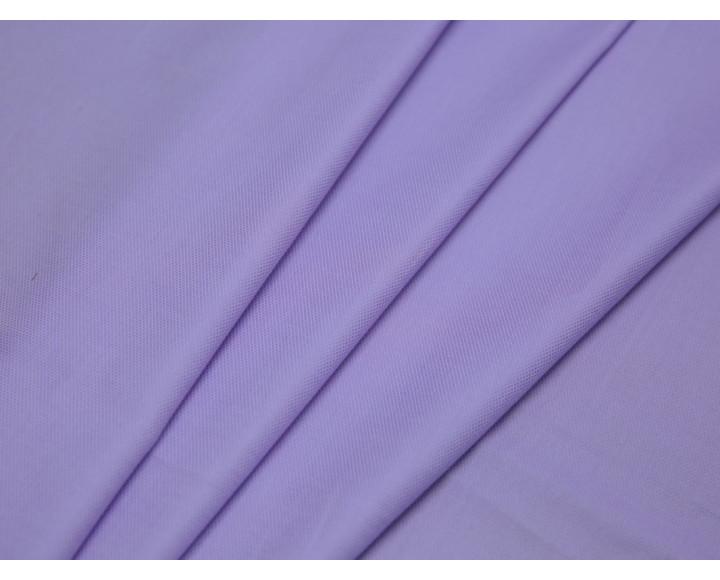 Рубашечная ткань хлопковая сиреневая в рубчик