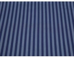 Рубашечная ткань хлопковая синяя в серую полоску