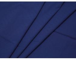Рубашечная ткань хлопковая синяя в рубчик