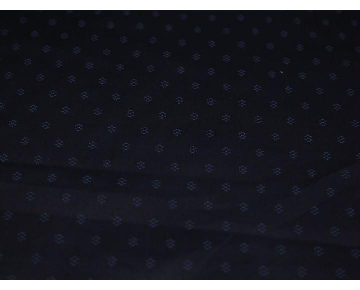 Джинсовая ткань черная мелкий принт