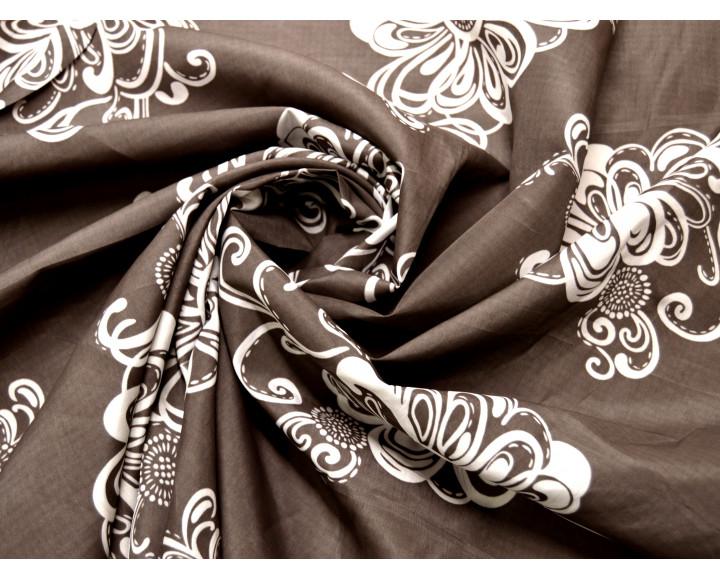 """Блузочная """"Цветы на коричневом"""" В6В-00015"""