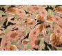 """Шифон """"Листья и цветы"""" В6В-00016"""