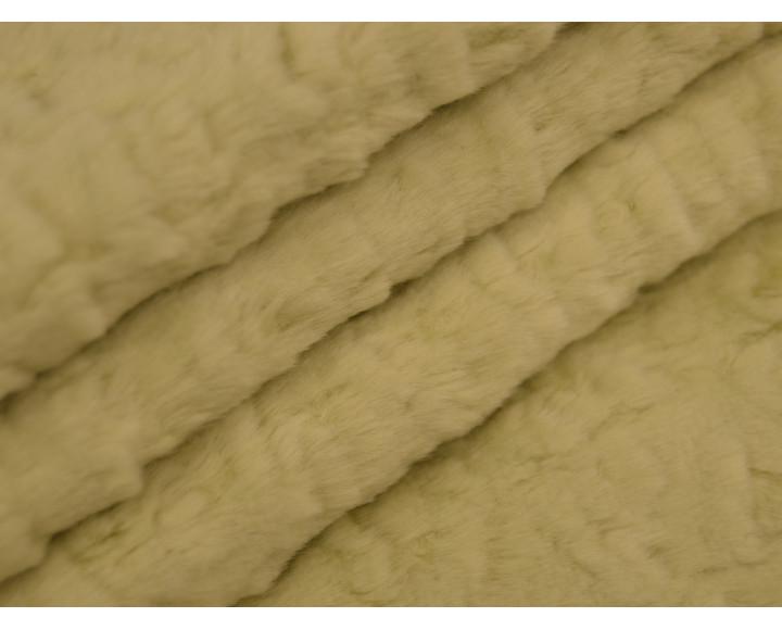 Мех искусственный зеленый короткий ворс