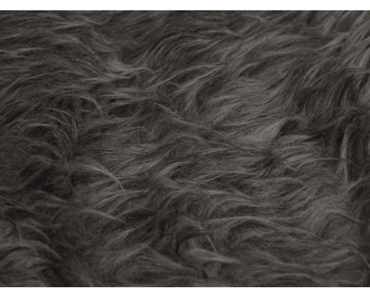 Мех искусственный темно-серый длинный ворс